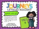 Kindergarten Journeys Unit 5 Interactive Notebook Activiti
