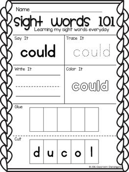 Kindergarten Sight Words Journeys Unit 5