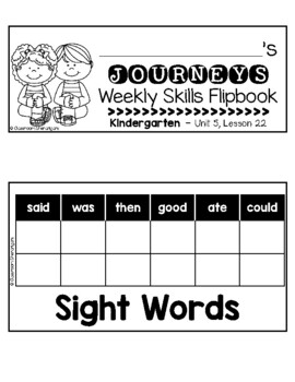 Kindergarten Journeys Unit 5 Weekly Skills Flipbooks