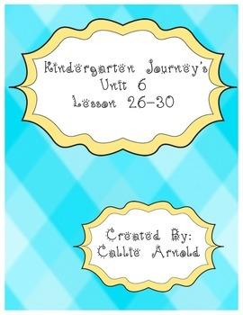 Kindergarten Journey's Unit 6