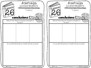 Kindergarten Journeys Unit 6 Interactive Notebook Activities for Leveled Readers