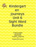Kindergarten Journeys Unit 6 Sight Word Games