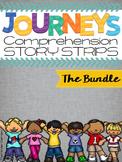 Kindergarten Journeys Units 1-6 Reading Comprehension Story Strips {THE BUNDLE}