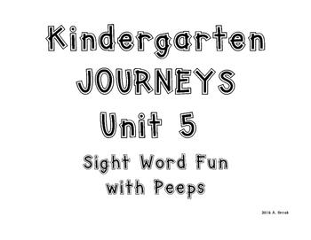 Kindergarten Journeys Words To Know Unit 5 Coloring Peeps Worksheets