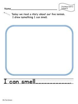 Kindergarten Journeys Writing Responses