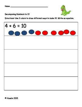 Kindergarten June Math Reading and Writing Activities