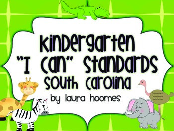 Kindergarten Jungle Standards SOUTH CAROLINA