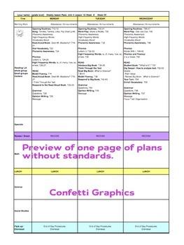Kindergarten K Lesson Plans Journeys Common Core Unit 4 Lesson 16-20 CCSS 5 Week