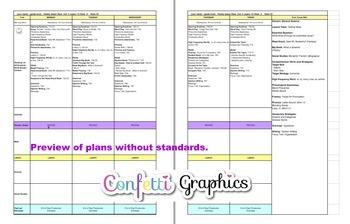 Kindergarten K Lesson Plans Journeys Common Core Unit 5 Lessons 21-25 CCSS 5 Wks