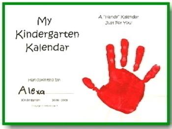 Kindergarten Kalendars Handprint Collection for 2019
