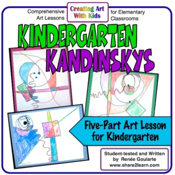 Art Lesson Geometry Integrated Kindergarten Kandinskys