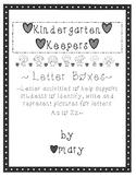 Kindergarten Keepers Letter Boxes