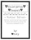 Kindergarten Keepers Number Boxes