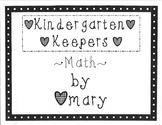 Kindergarten Keepers Volume Four (Math)