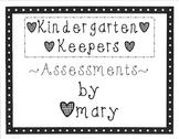 Kindergarten Keepers Volume One (Assessments)