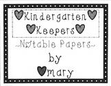 Kindergarten Keepers Volume Six (Notable Papers)