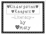 Kindergarten Keepers Volume Three (Literacy)