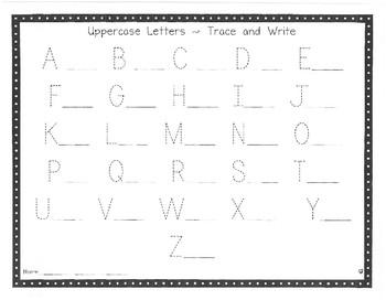 Kindergarten Keepers Writing Helpers