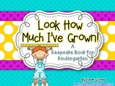 Kindergarten Keepsake Book with Samples from Beginning and End of School year