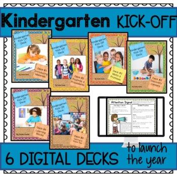 First Days in Kindergarten Beginning of Year Back to School Deck Bundle