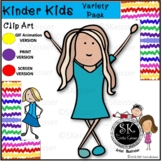 Kindergarten Kids Clip Art, Boys & Girls, Pre-K Kids, GIF, Set 1