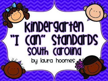 Kindergarten Kids Standards SOUTH CAROLINA