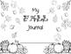Kittygarten Kinect - No Prep - My Fall Journal