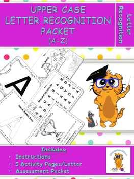 Kittygarten Kinect No Prep - Upper Case Letter Recognition Packet