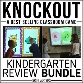 Kindergarten Knockout End of Year Review BUNDLE {Math & Language Arts}