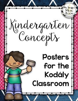 Kindergarten Kodaly Concept Posters