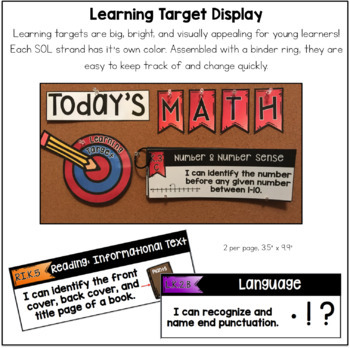 Kindergarten L.A. CCSS Learning Target Pack