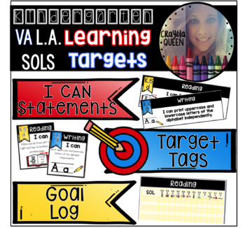 Kindergarten L.A. VA SOL Learning Target Pack