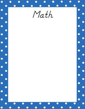 Kindergarten L. Arts & Math Common Core Standards Posters
