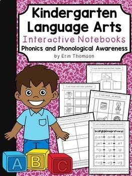 Kindergarten ELA Interactive Notebook ~ Phonics & Phonological Awareness