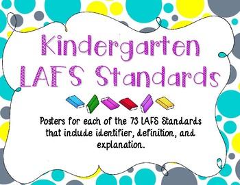 Kindergarten LAFS Posters