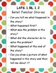 Kindergarten LAFS question / prompting task cards