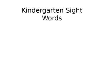Kindergarten Lamp for life sight words
