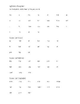 Kindergarten Language Arts Assessment