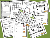 Language Arts Centers and Worksheets- Days of Creation :Bi