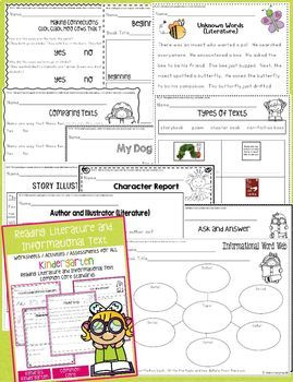 Kindergarten Language Arts Common Core Bundle