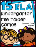 Kindergarten Language Arts File Folder Games