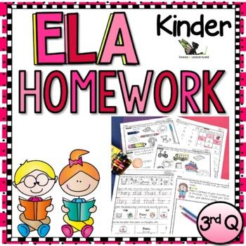 Kindergarten Language Arts Homework - 3rd Quarter