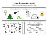 Letter Ii Homework Menu