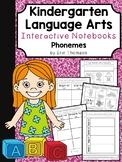 Kindergarten Language Arts Interactive Notebook ~ Phonemes