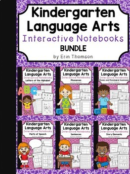 Kindergarten Language Arts Interactive Notebooks ~ BUNDLE