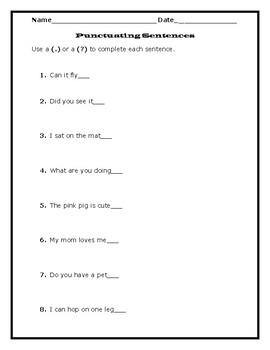 Kindergarten Language Arts Practice Sheets (Common Core Aligned)