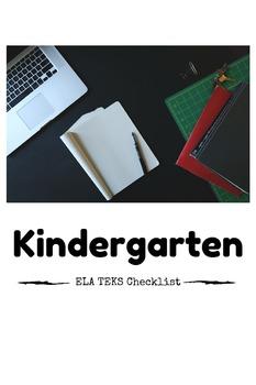Kindergarten Language Arts TEKS Checklist Freebie