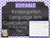 *EDITABLE* Kindergarten Language Arts