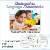 Kindergarten Language Assessments