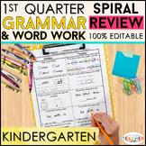 Kindergarten Language Spiral Review | Grammar Practice | 1